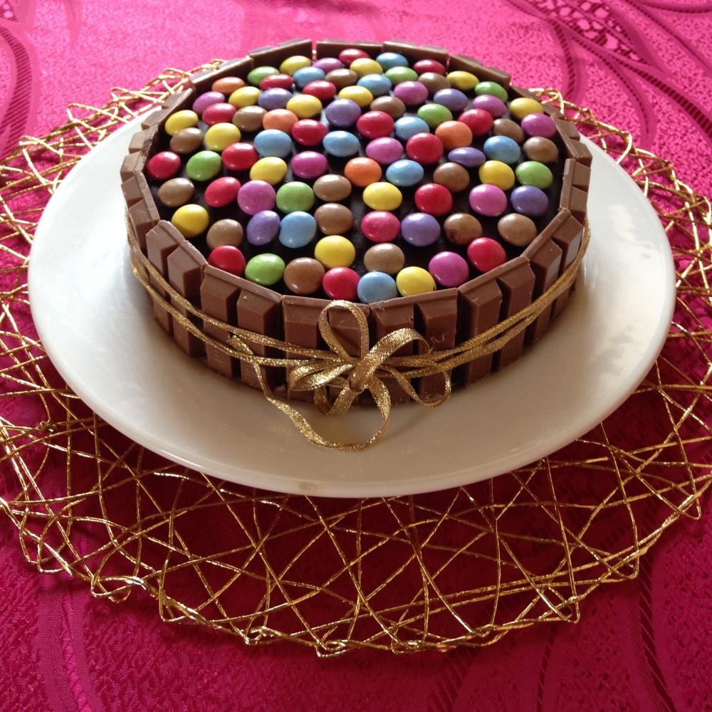 smarties-torta
